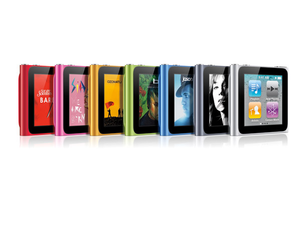 iPod Nano 6th-generation features: 1.54-inch TFT display @ 240×240 pixel